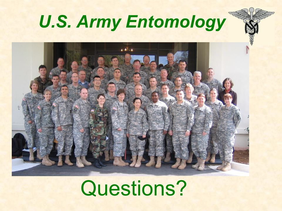 U.S. Army Entomology Questions