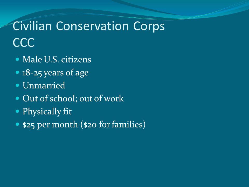 Civilian Conservation Corps CCC Male U.S.