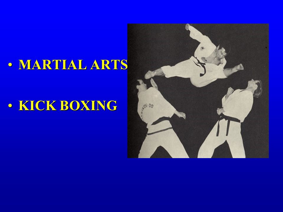 MARTIAL ARTSMARTIAL ARTS KICK BOXINGKICK BOXING