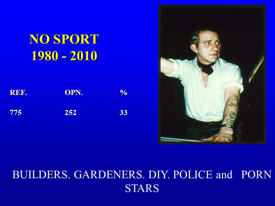 NO SPORT 1980 - 2010 REF.OPN.% 775252 33 BUILDERS. GARDENERS. DIY. POLICE and PORN STARS