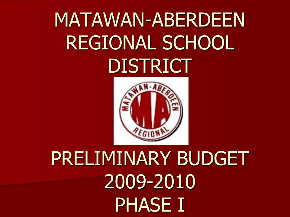 MATAWAN-ABERDEEN REGIONAL SCHOOL DISTRICT PRELIMINARY BUDGET 2009-2010 PHASE I