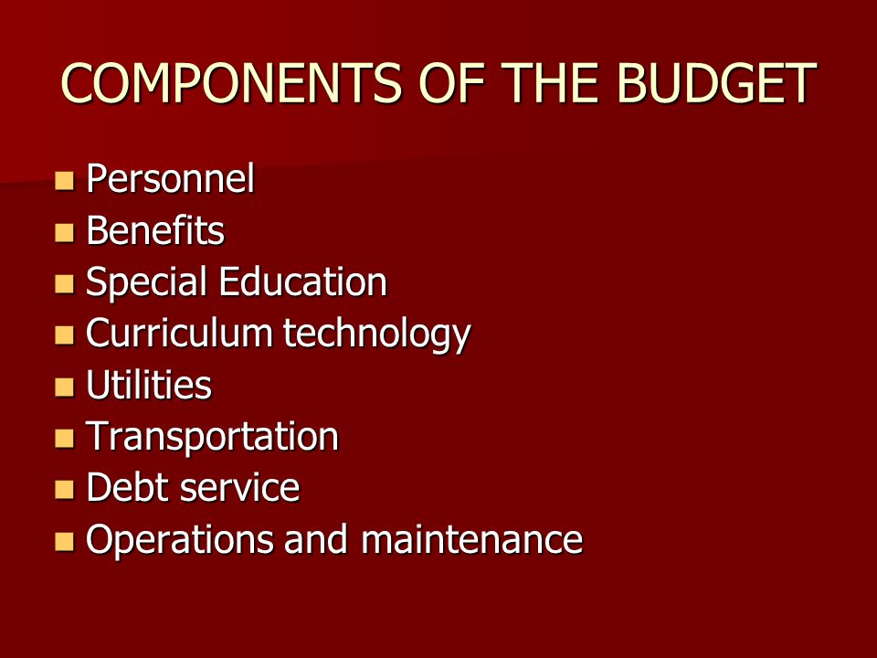 APPROPRIATIONS 2008-2009 Fund 10 (Operating Budget)$59,055,389 Fund 20 (Grants)$ 1,299,580 Fund 40 (Debt Service)$ 2,501,045 TOTAL BUDGET $62,856,014