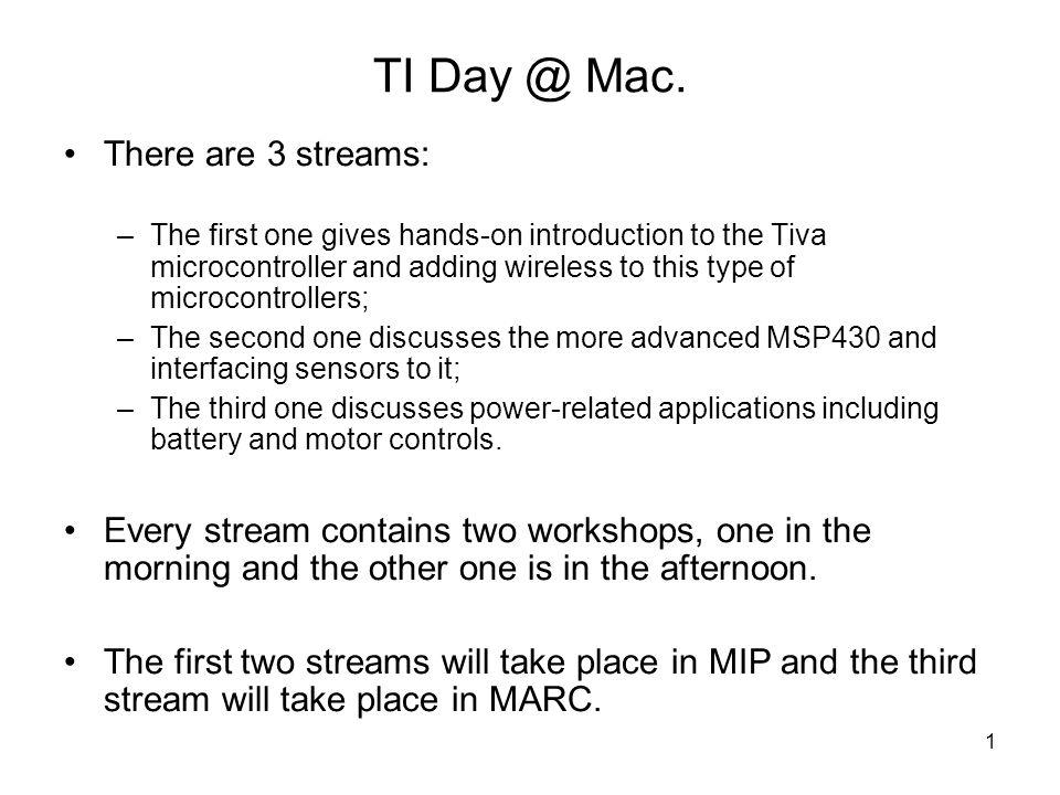 1 TI Day @ Mac.