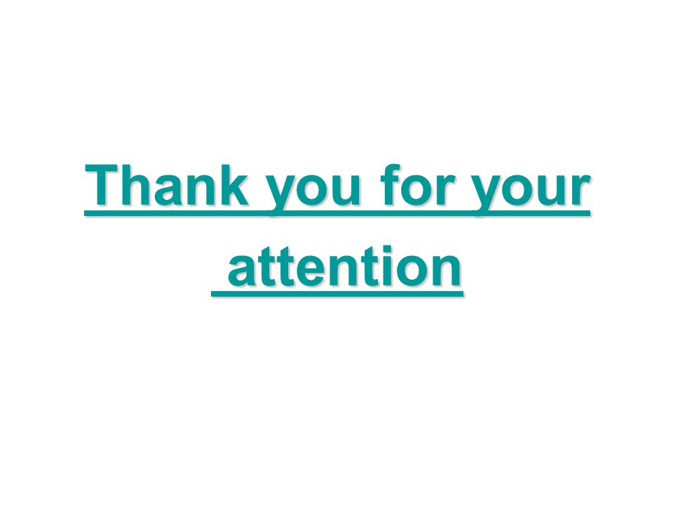 Thank you for your attention attention