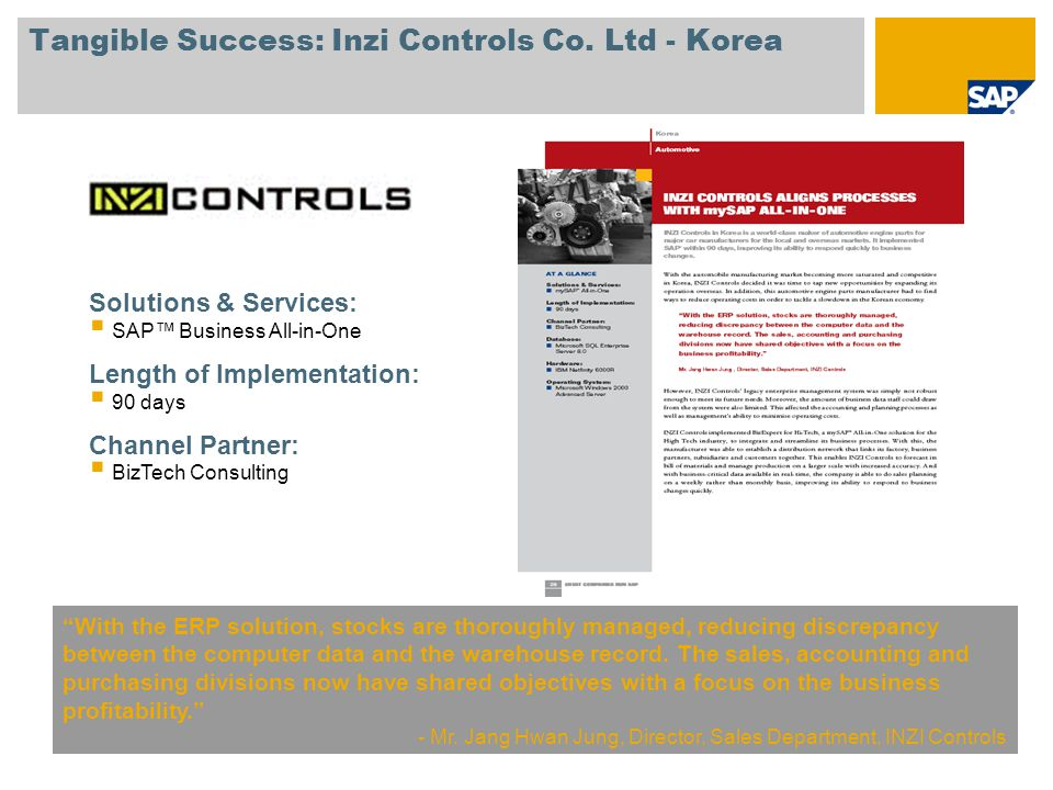 Tangible Success: Inzi Controls Co.