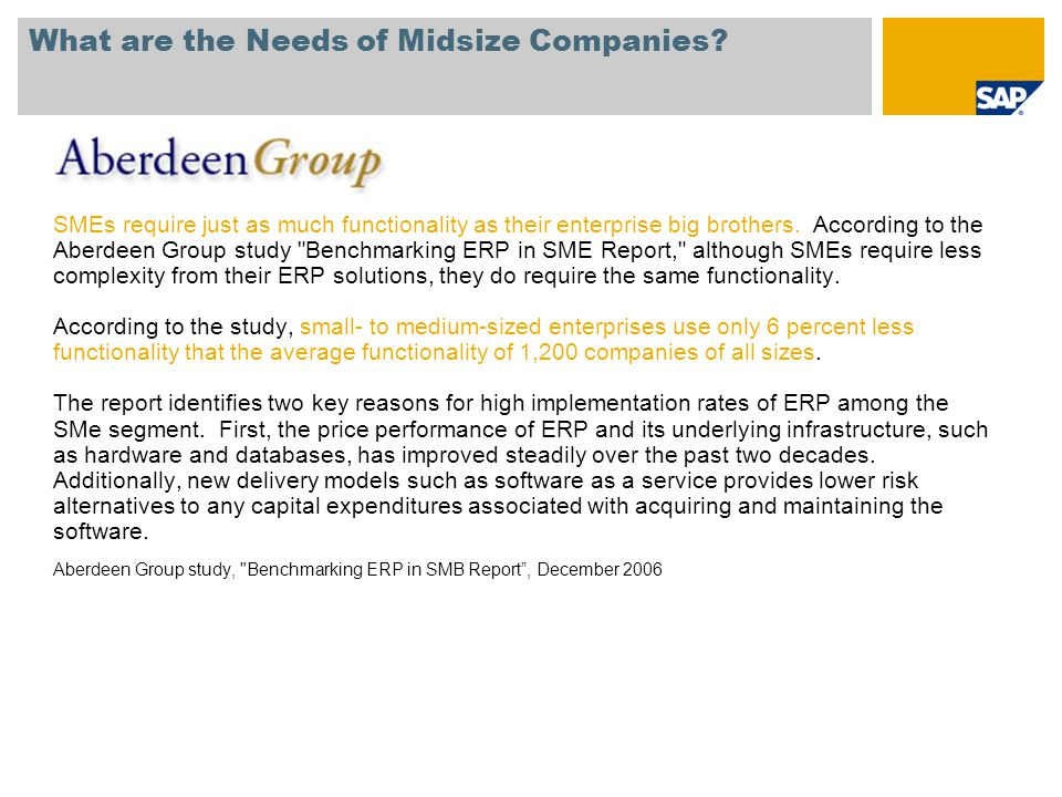 What are the Needs of Midsize Companies.