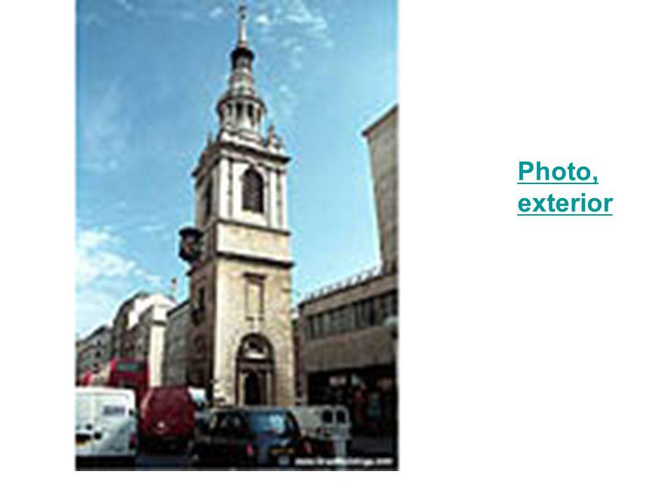 Photo, exterior of steeplePhoto, exterior of steeple