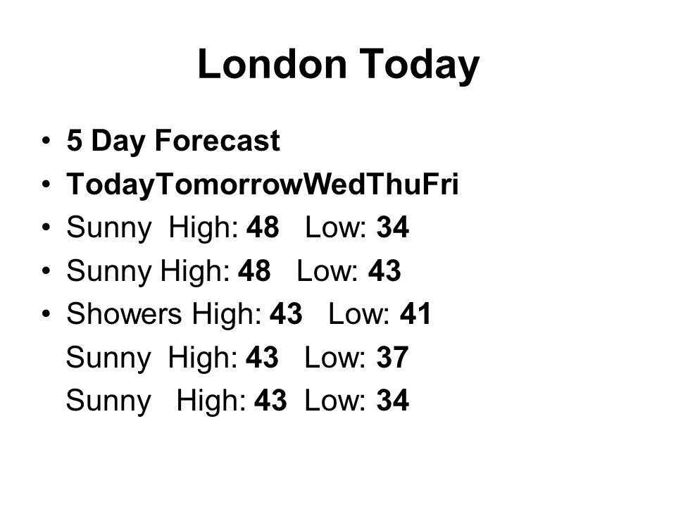 United Kingdom Climate Temperatures (Average Daily Lows And Highs) Precipitation (Average Monthly) London Edinburgh London Edinburgh Jan.
