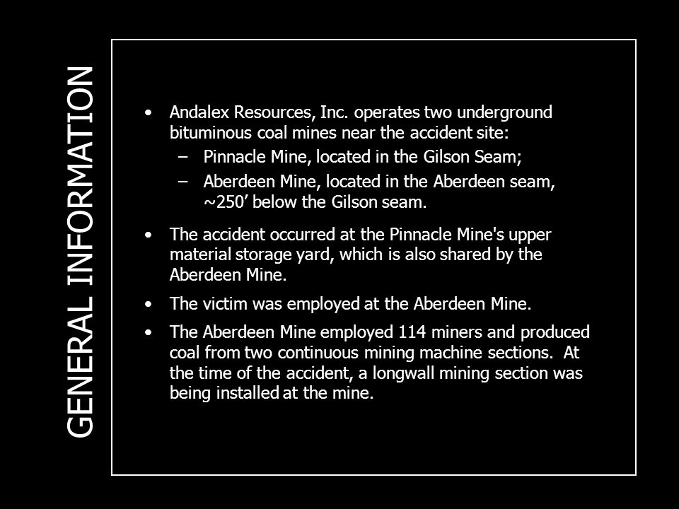 Andalex Resources, Inc.