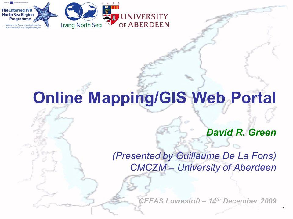 1 Online Mapping/GIS Web Portal David R.