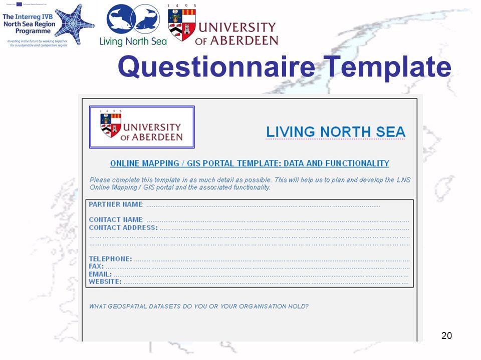Questionnaire Template 20