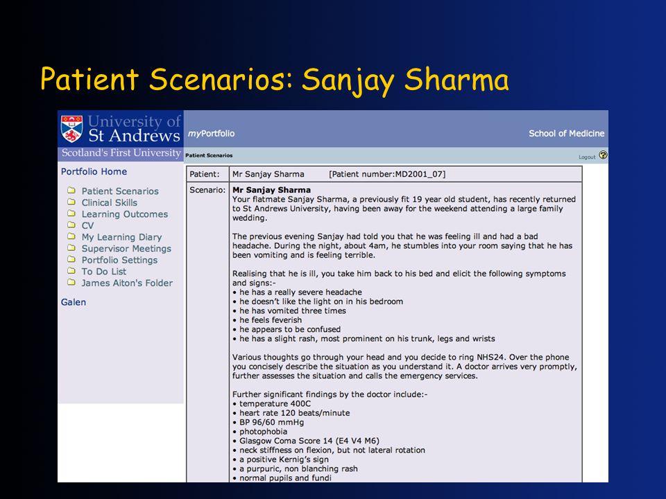Patient Scenarios: Sanjay Sharma