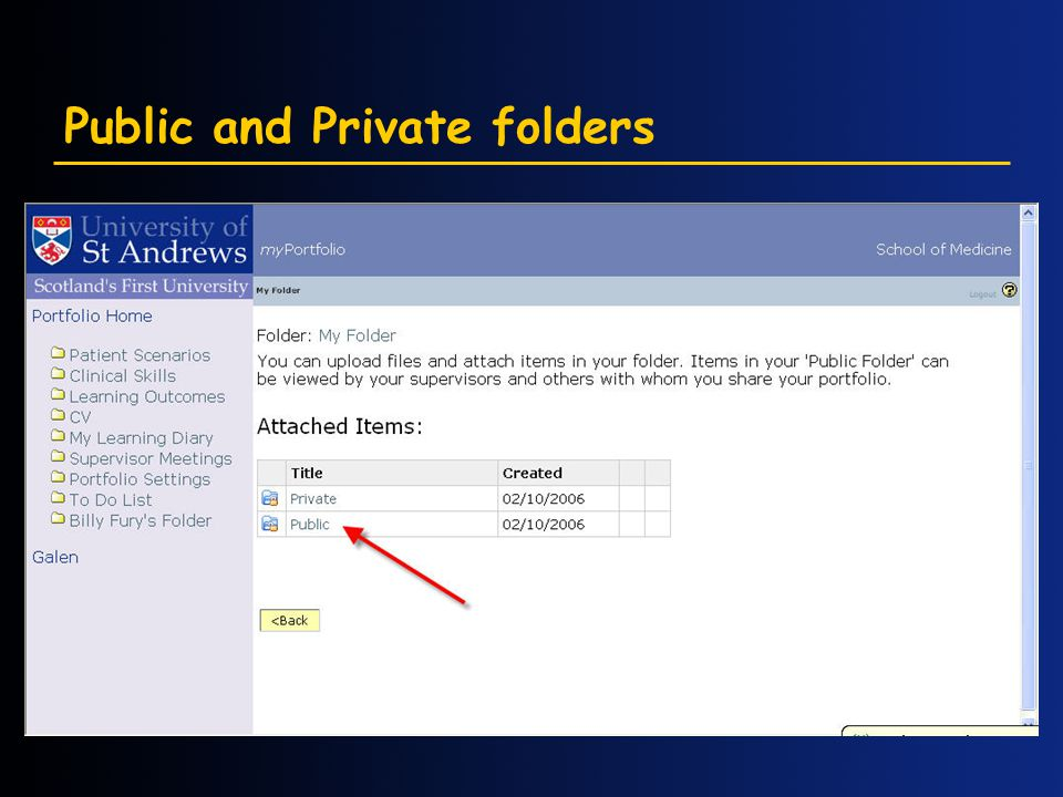 Public and Private folders