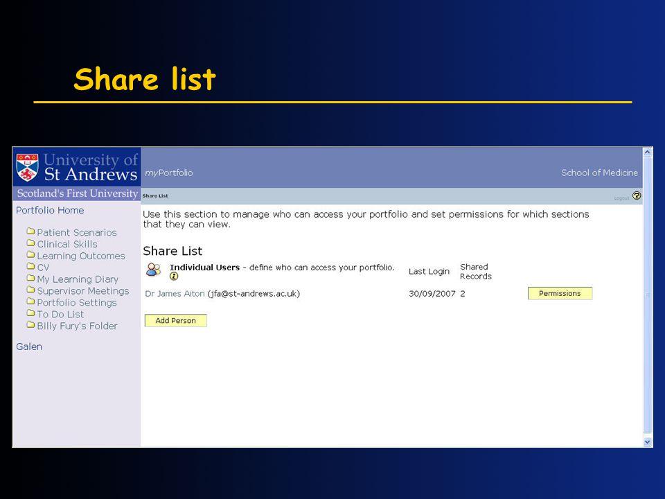 Share list