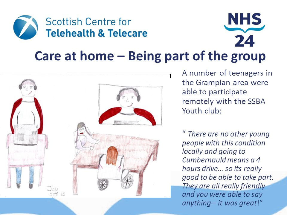 "Care at home – Being part of the group A number of teenagers in the Grampian area were able to participate remotely with the SSBA Youth club: "" There"