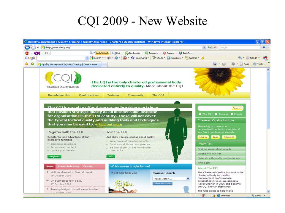 CQI 2009 – Revamp of Quality World