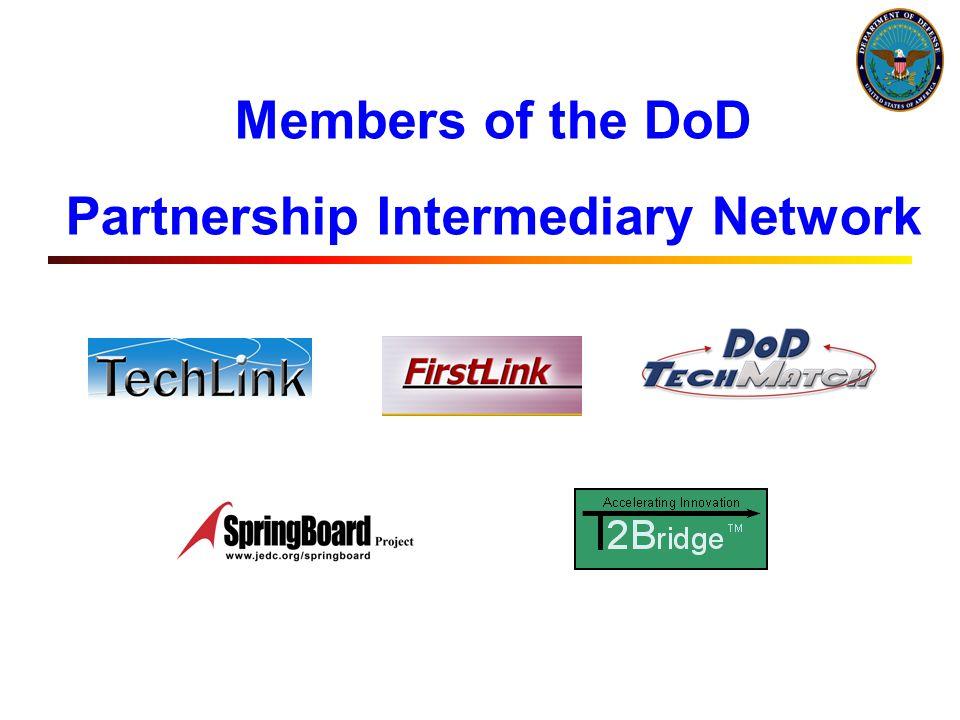 Members of the DoD Partnership Intermediary Network