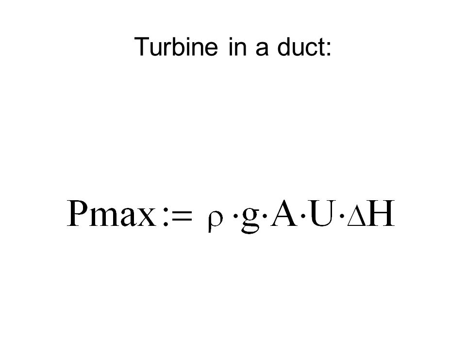 Turbine in a duct: