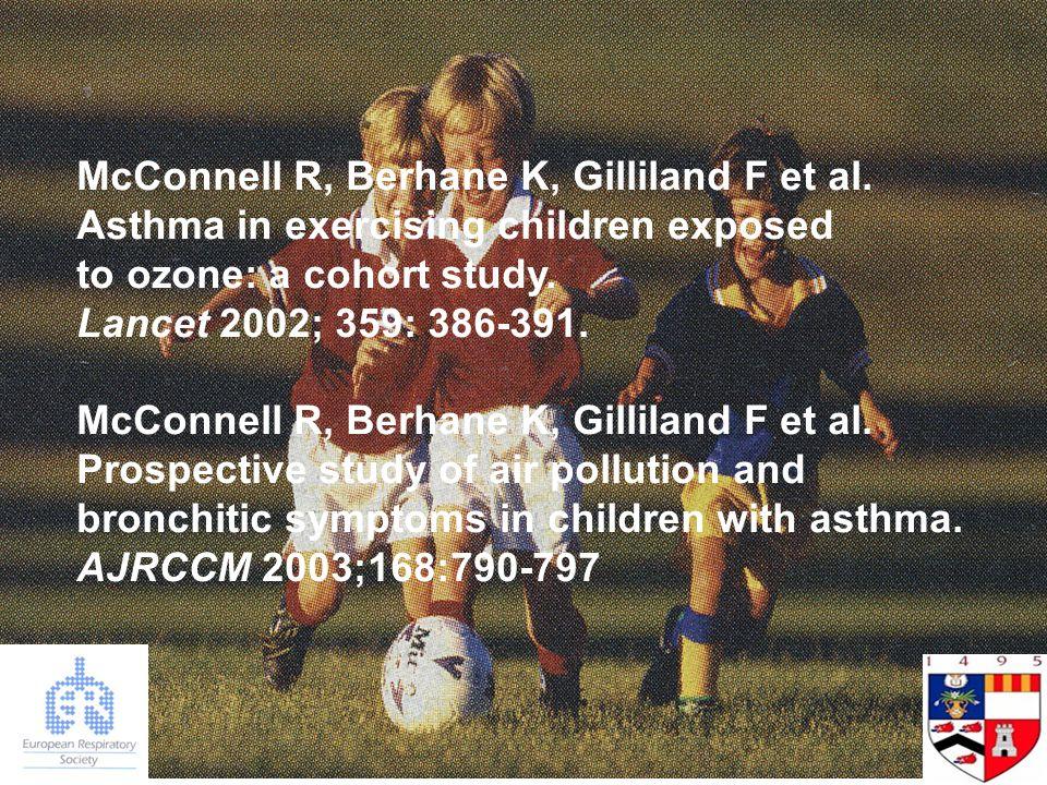 McConnell R, Berhane K, Gilliland F et al.