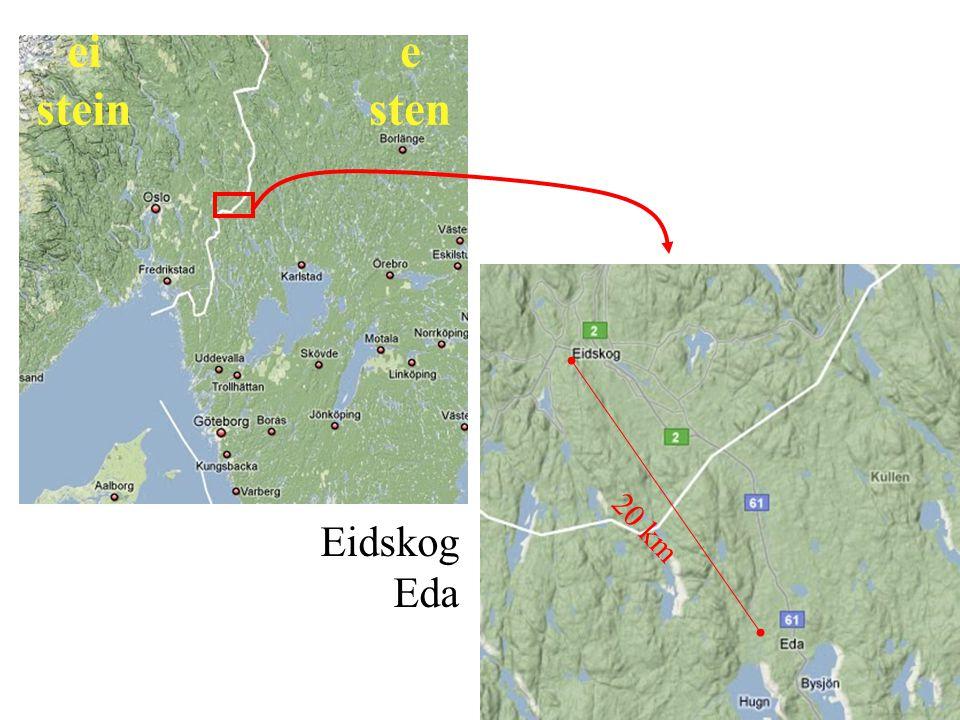 Eidskog Eda 20 km ei stein e sten