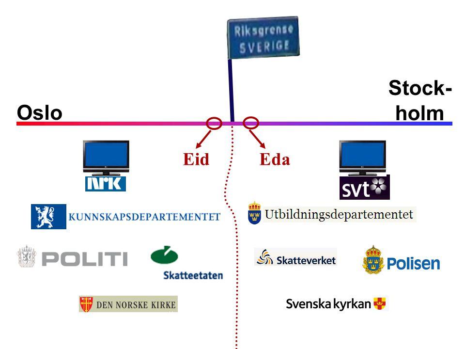 Oslo Stock- holm Eda Eid