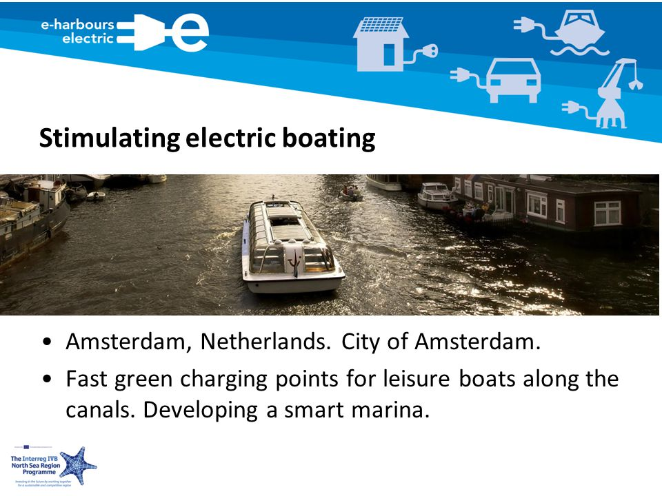 Stimulating electric boating Amsterdam, Netherlands.
