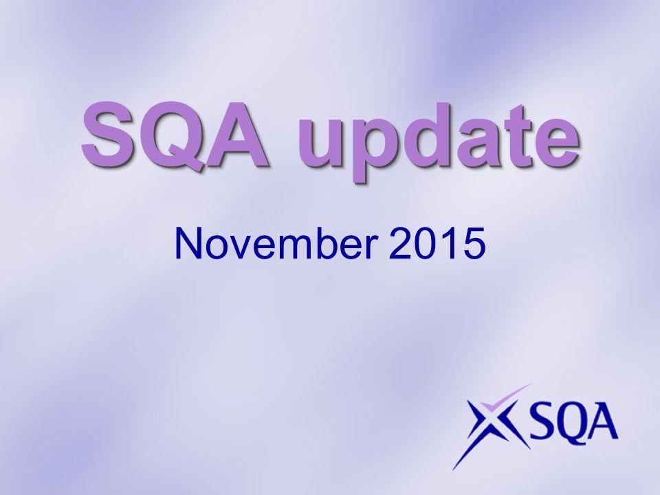SQA update November 2015