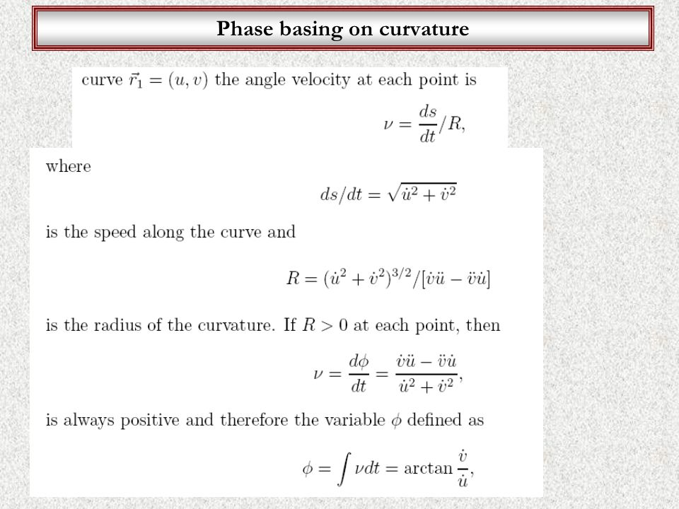 Phase basing on curvature