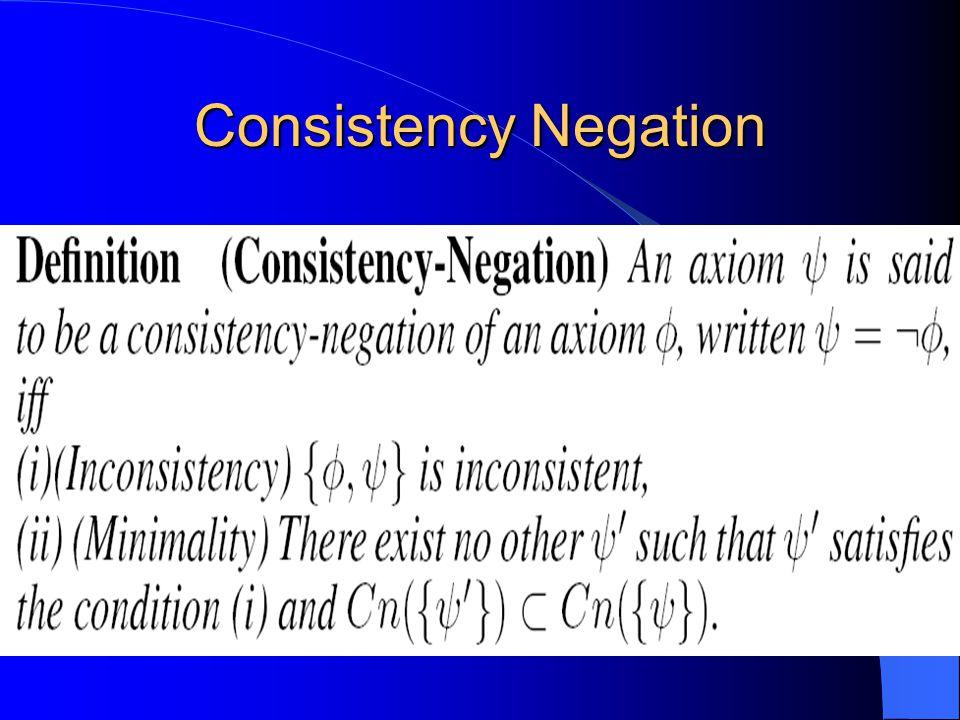 Consistency Negation