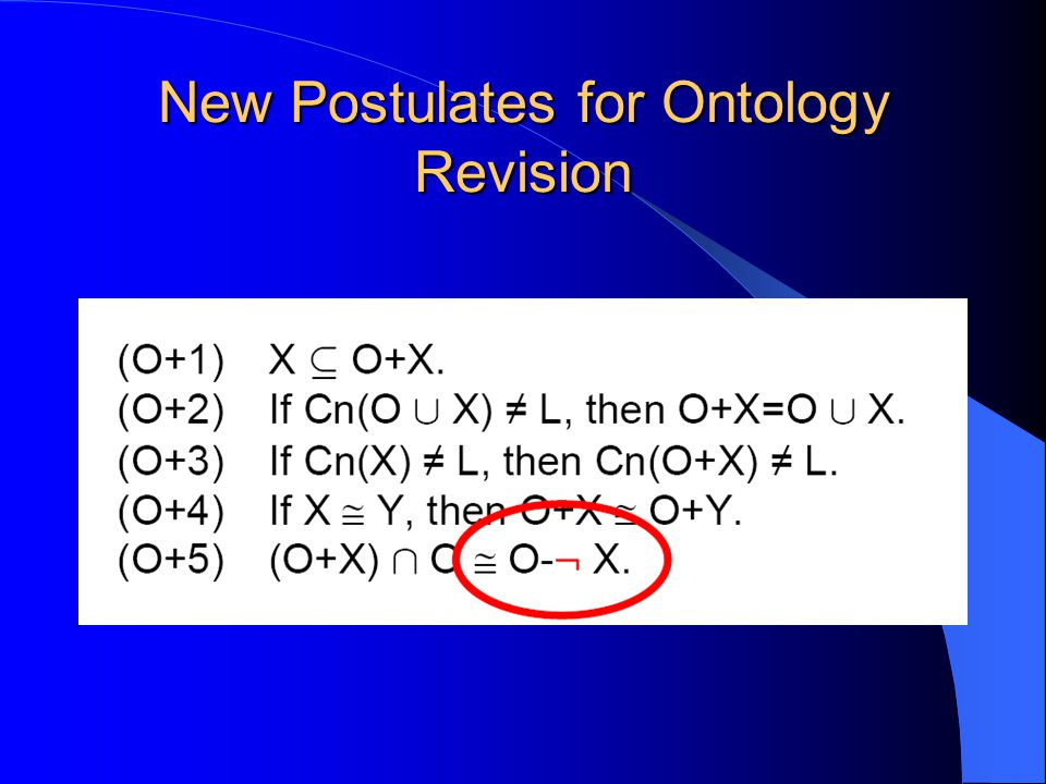 New Postulates for Ontology Revision