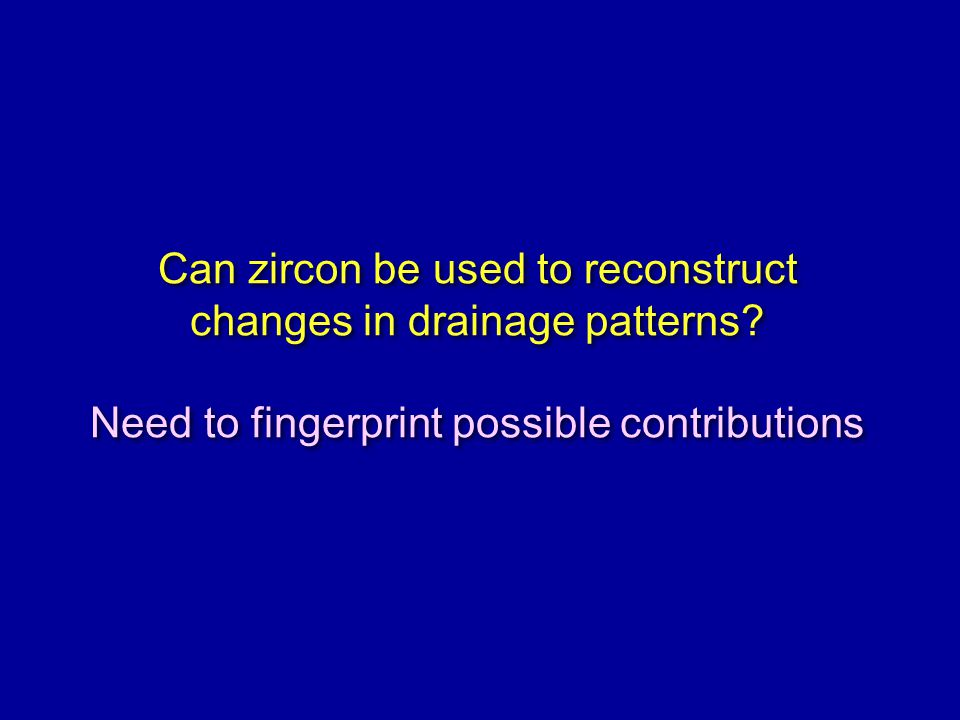 Can zircon be used to reconstruct changes in drainage patterns.