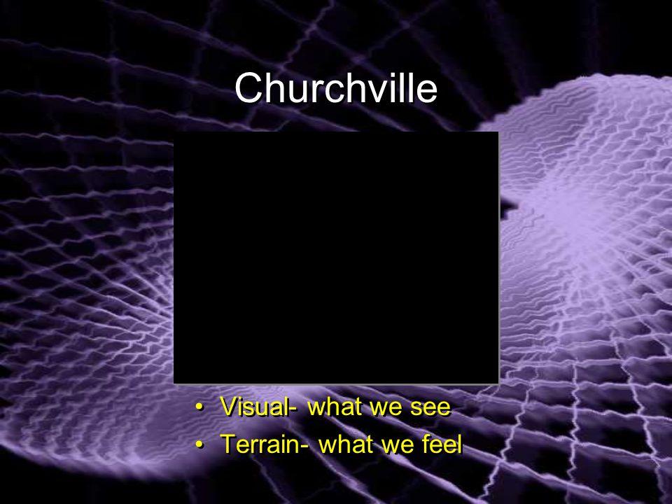 Churchville Visual- what we see Terrain- what we feel Visual- what we see Terrain- what we feel