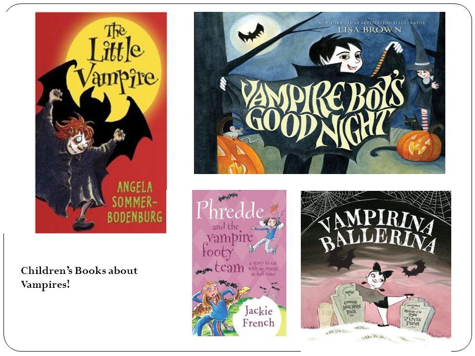 Children's Books about Vampires!