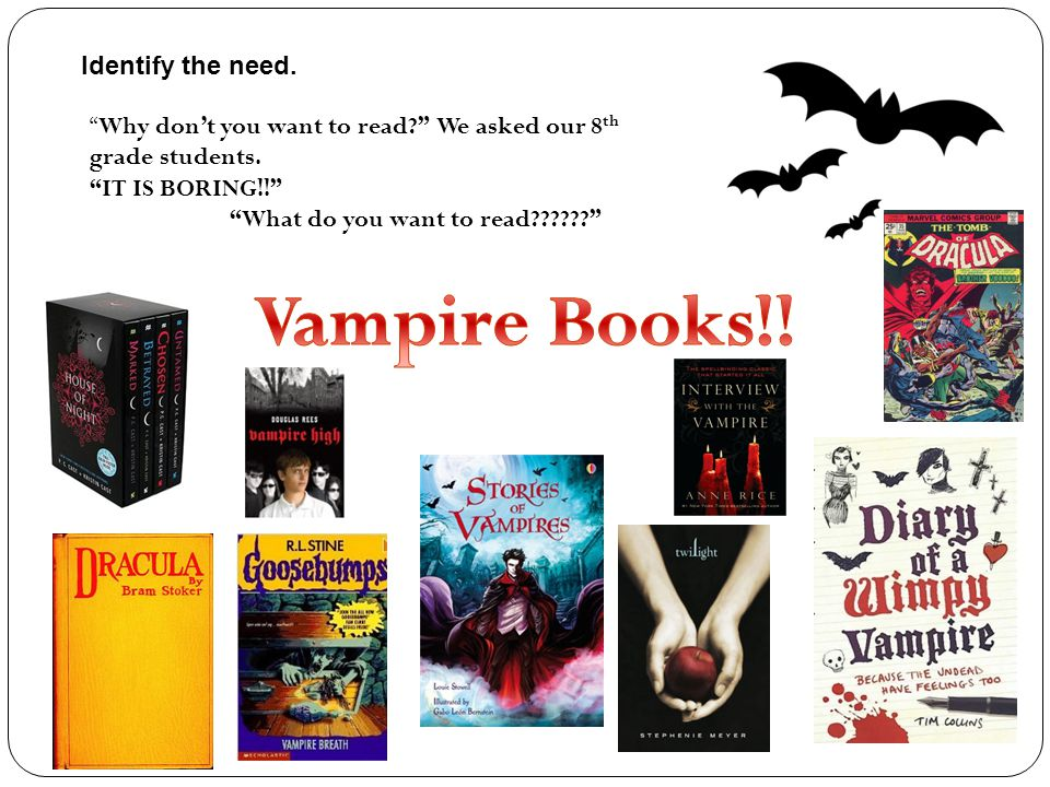 What do you want to read Why don't you want to read We asked our 8 th grade students.