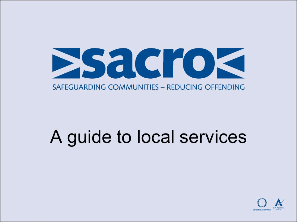 A guide to local services