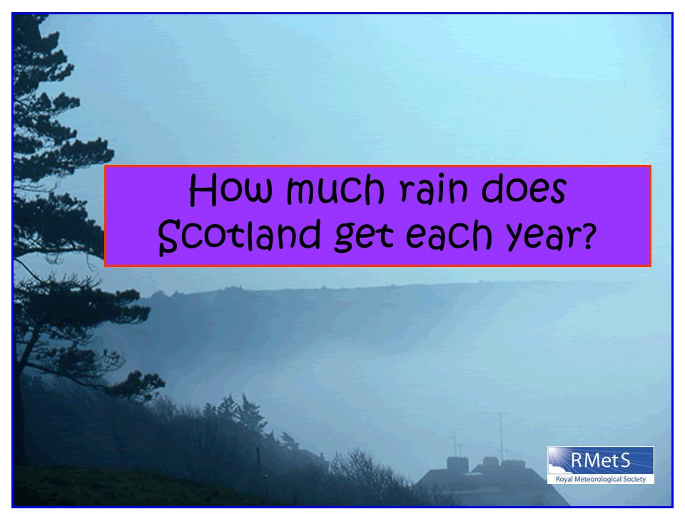 How much rain does Scotland get each year