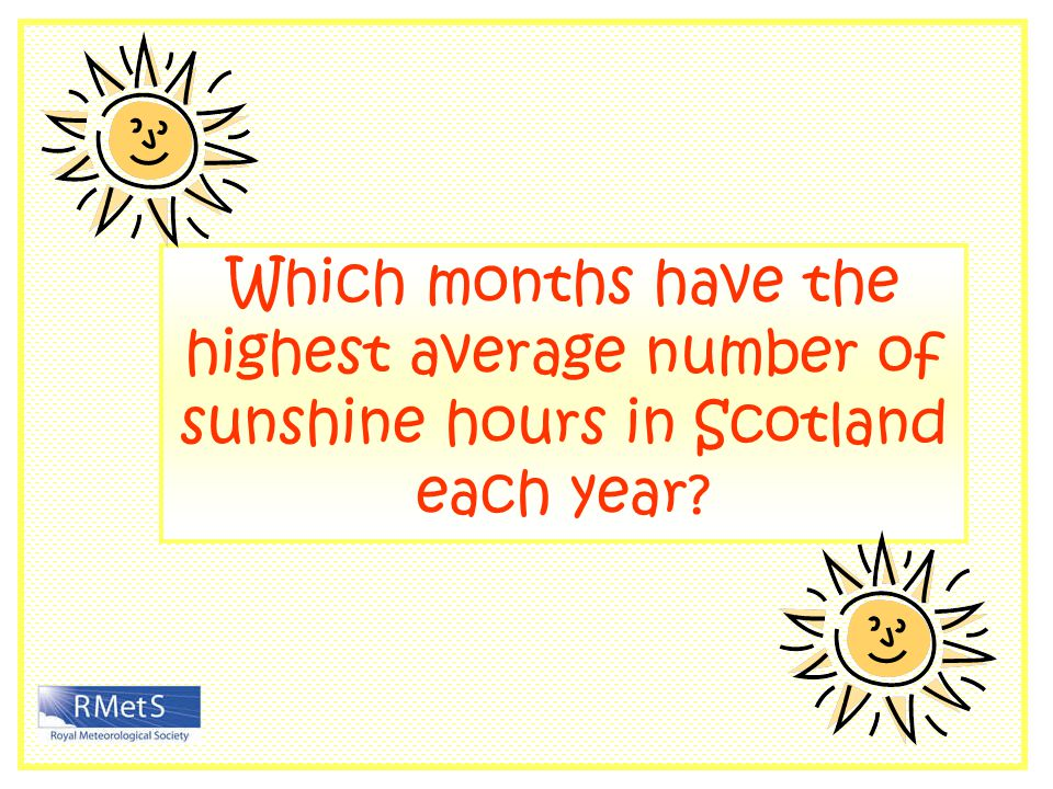 Which months have the highest average number of sunshine hours in Scotland each year