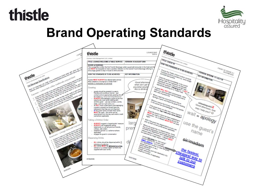 Brand Operating Standards