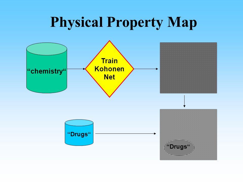 Physical Property Map chemistry Train Kohonen Net Drugs