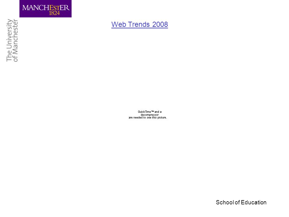 School of Education Web Trends 2008