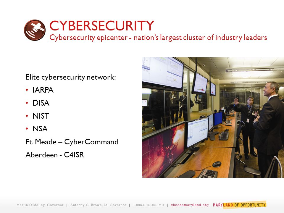 CYBERSECURITY Elite cybersecurity network: IARPA DISA NIST NSA Ft.