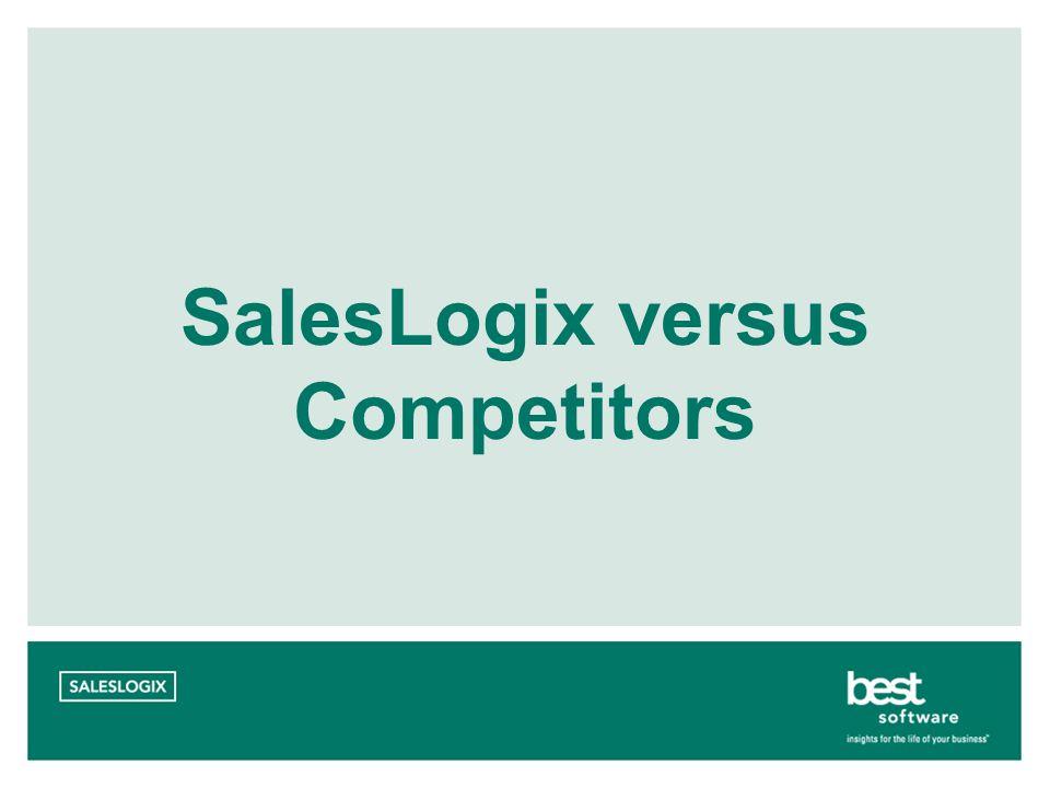 SalesLogix versus Competitors