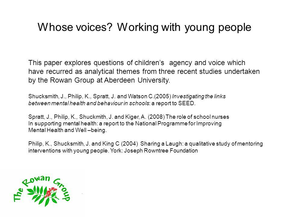 Whose voices.