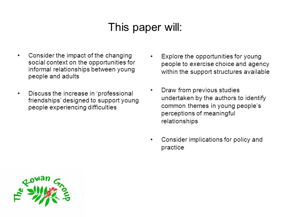 Young people's place in society Structural changes impacting on perceptions about young people - collapse of youth labour market -policy changes (family, education, youth justice) -sharpening of inequalities between different groups of young people Imagery of young people –moral panics (fuelled by media) –youth as a 'social barometer'.