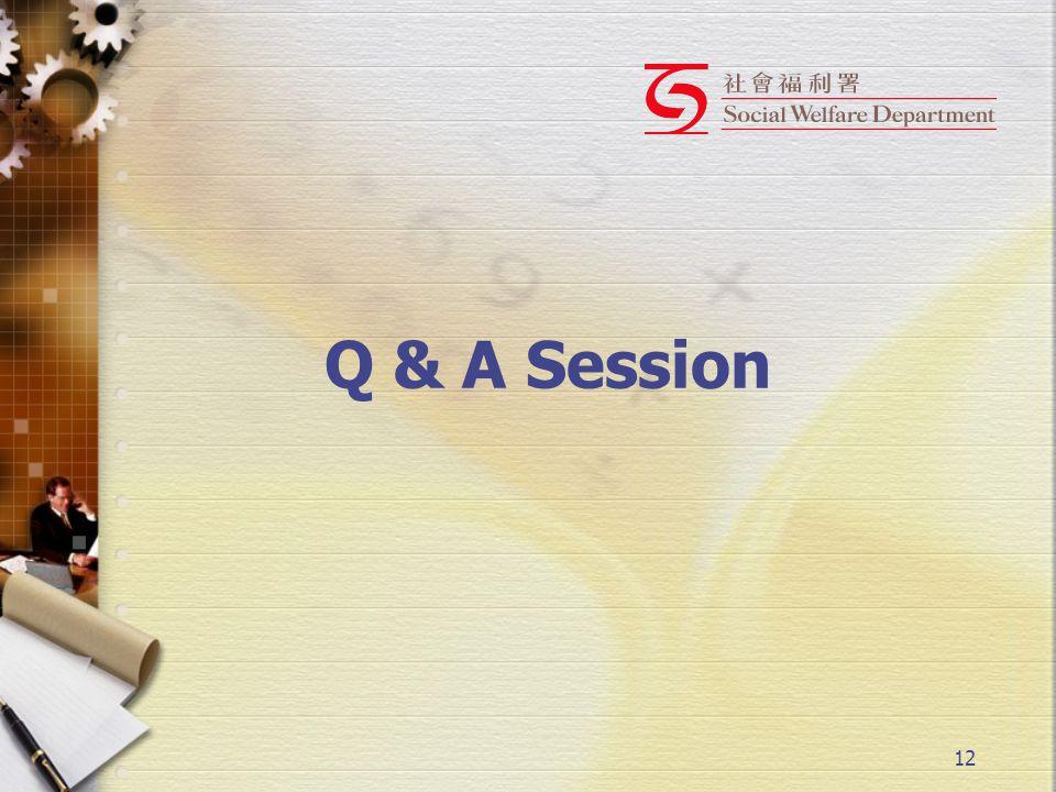 12 Q & A Session