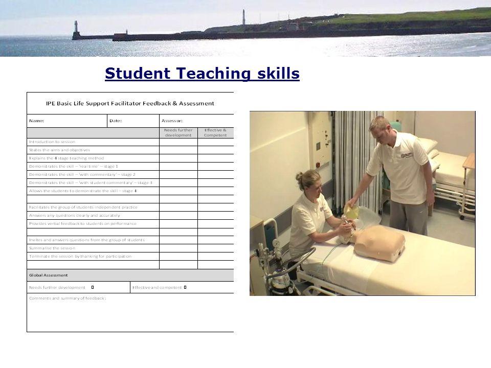 Student Teaching skills
