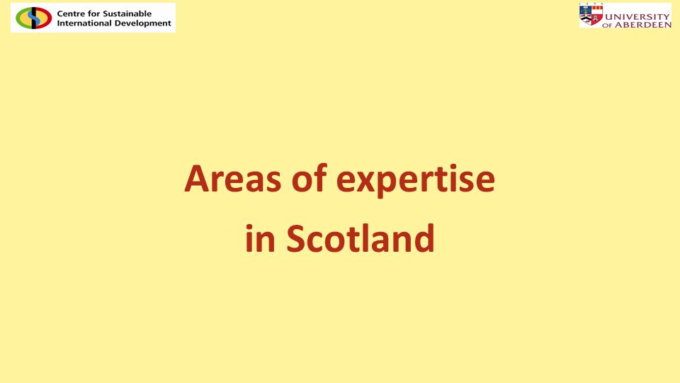 Areas of expertise in Scotland