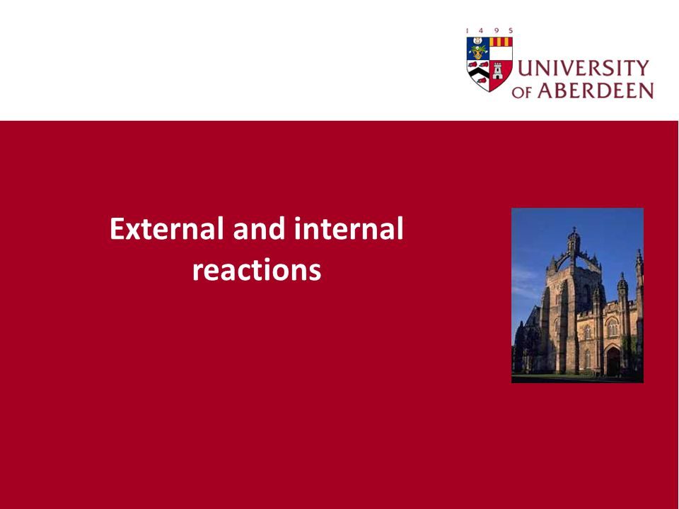 External and internal reactions