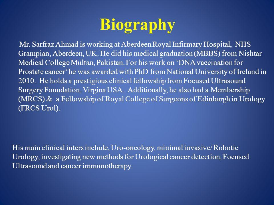 Biography Mr.