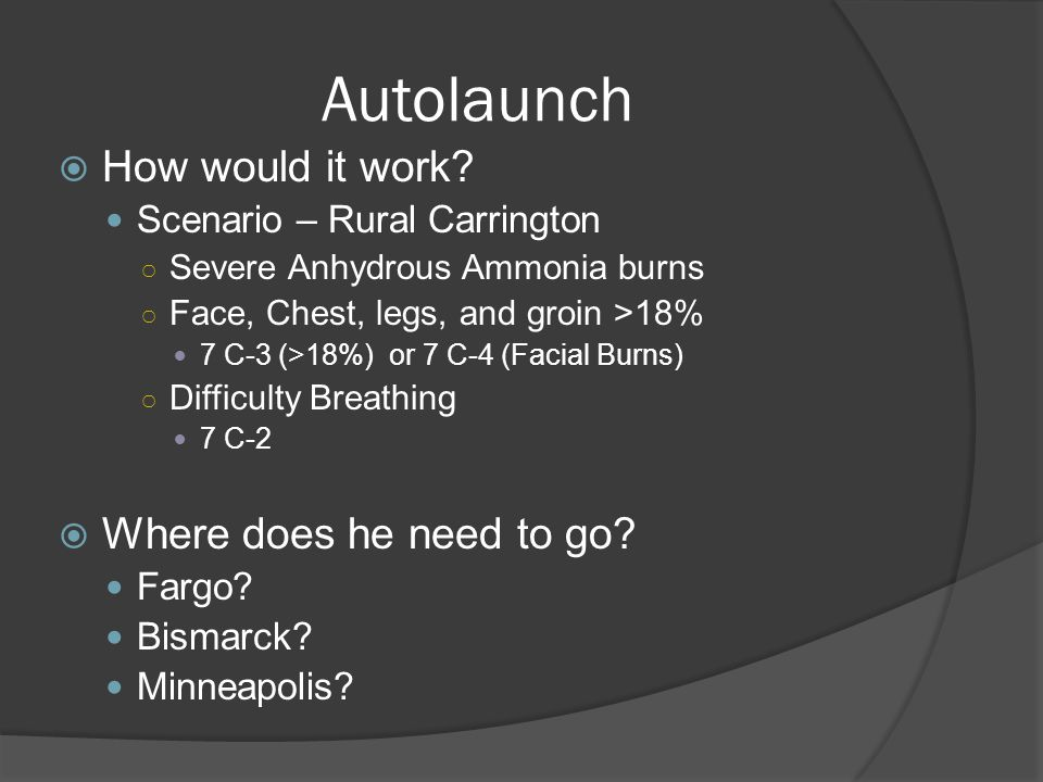 Autolaunch  How would it work.